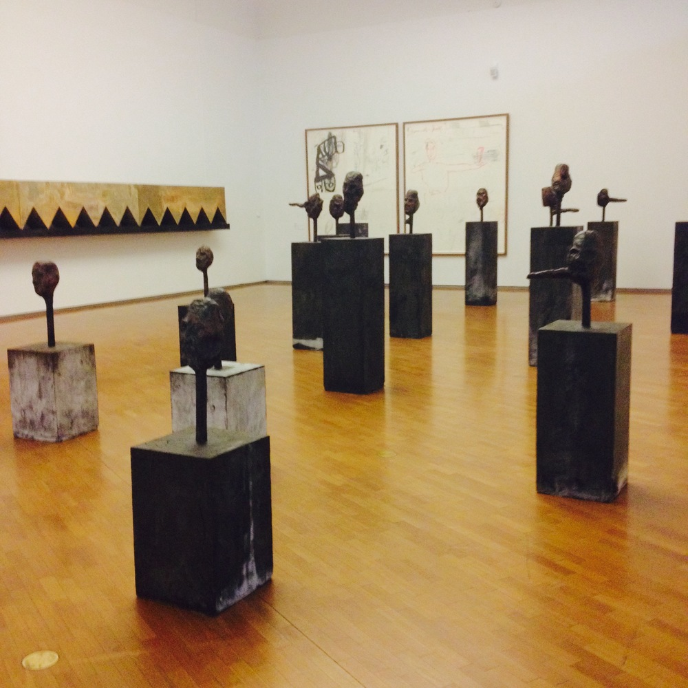 Bronze liars (1996): parr constructed these portrait busts partially blinded