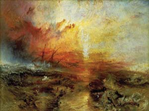 1 Bodies in the Water: DESMOND MANDERSON   J. M. W. Turner,  The Slave Ship   (Slavers Throwing Overboard the Dead and Dying, Typhoon Coming On) , 1840; Collection: Museum of Fine Arts, Boston