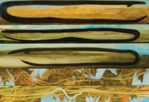 11 Some notes on abstraction, and landscape: ERICA GREEN   Richard Dunlop,  Path of the Eel , oil on canvas