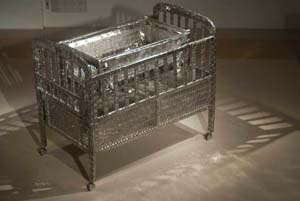 12 Notes from India Art Fair 2013 REG NEWITT Tayeba Begum Lipi, My Daughter's Cot, 2012, stainless steel, 122 x 71 x 101.6cm; image courtesy the artist and Samdani Art Foundation, Dhaka, Bangladesh