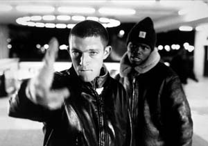 8 Art you can Believe in: Mindworms of political art ALAN GILMOUR Still from the film La Haine [Hatred], 1995, directed by Mathieu Kassovitz