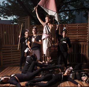 15 Art School Anecdote MARTYN JOLLY Tableau vivant of 'Liberty Leading the People', from Art School Anecdote, 2013, ANU School of Art; photo: Sarah Nathan-Truesdale