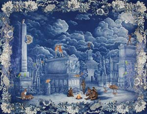 4 The art of art criticism ALEXANDER McPHEE-BROWNE       DANIE MELLOR,   AN ELYSIAN CITY (OF PICTURESQUE LANDSCAPES AND MEMORY)   , 2010, PASTEL, PENCIL AND WASH WITH GLITTER AND  Swarovski crystal on Saunders Waterford paper. Collection: National Gallery of Australia, Canberra; currently showing in  unDisclosed, the National Indigenous Art Triennial , National Gallery of Australia, Canberra, 11 May to 22 July 20 12