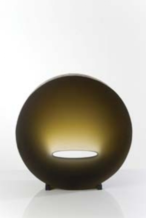 11 Some words on Word of Mouth SARAH RICE Richard Whiteley, Illuminate, 2010, cast glass and metal, 57.5 diameter x 17cm; image courtesy the artist; photo: Greg Piper