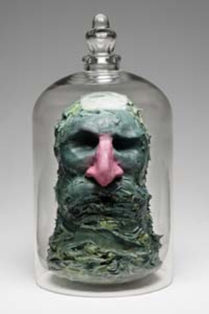 5 Zombie Thoughts from the Past: Writing & the Public Sphere ANDREW FROST Laith McGregor, Tete (Grey), 2011, oil paint, glass, modelling clay, 33 x 18 x 18cm. Image courtesy the artist and Sullivan+Strumpf Fine Art, Sydney