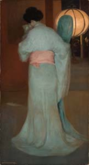 7 Celebrating art and commerce in Brisbane LOUISE MARTIN-CHEW Rupert Bunny, Madame Sadayakko as Kesa, c. 1907, oil on canvas, 175 x 95cm; Philip Bacon Collection, Brisbane; image courtesy Philip Bacon Galleries, Brisbane