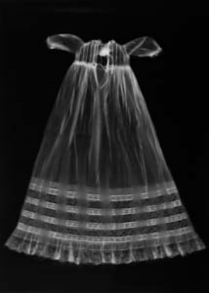 4 An absent presence: Anne Ferran's 'Shadow Land' LEIGH ROBB Anne Ferran, Untitled [christening gown 1978/3043/2], 2001, silver gelatin photogram, 125 x 89.5cm; © the artist
