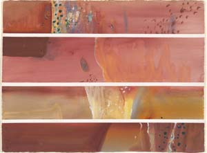 7 Fred Williams – The Poetry of Paint: ALAN R. DODGE    Weipa III , 1977, gouache on paper. Collection: National Gallery of Austra lia, Canberra. All works this article of work by Fred Williams; all images © e state of Fred Williams