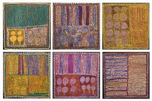 14 Cultivating palates: 2011 Fleurieu Art Prize: MAURICE O'RIORDAN   Loongkoonan,  Nyikina Country , finalist, 2011 Fleurieu Prize