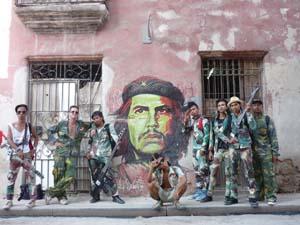 8 PUNKASILA at MUMA NICOLAS LOW  Punkasila: La mision a Cuba del rock combativo, 10th Havana Biennial 2009, La Habana Viela (Old Havana). Photograph by Reynier Rodriguez Vazquez.
