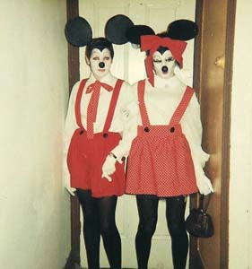 13 Queering Sydney - The 'art and fashion queens' SALLY GRAY Clarence Chai, photograph of Peter Tully (right) as Minnie Mouse dressed for the annual Arts Ball, Melbourne, 1966.