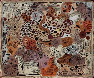 6 Passionately Independent: Alison Anderson Nampitjinpa in Sydney: JEREMY ECCLES    Untitled, 2011 , acrylic on linen, 152 x 183cm. Image courtesy the artist and Trevor Victory Harvey Gallery, Sydney