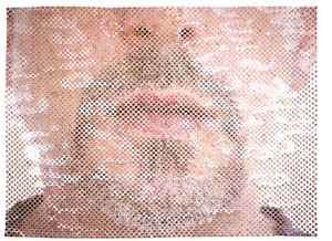 11 Seeing Di Mauro JOSEPH EISENBERG    Self portrait , 2007, woven digital prints on rag paper, 97cm x 131cm; shown in footnotes of a verdurous tale.