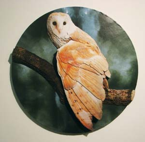 5 Natural Digression: to see what we don't yet know we're seeing KIRSTEN RANN   Rose Montebello, Night watch, 2010, paper, mountboard,, 41cm diameter. From the UTS Gallery exhibition Natural Digression. Image courtesy the artist.