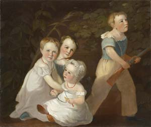 15 In search of the Gellibrands DANIELLE WOOD Artist unknown (possibly Augustus Earle), Four Children of Joseph Tice Gellibrand, c.1828, oil on canvas, 63.5 x 75.3cm. Collection: Tasmanian Museum and Art Gallery, Hobart. Presented by John Gellibrand under the Cultural Gifts Program, 2004.
