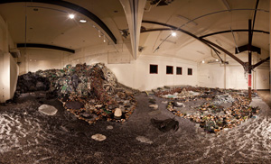 12. TS2: art intercepting waste, by ADAM BROINOWSKI    Slow Art Collective,   Transfer Station 2,   2009, installation view, Incinerator Arts Complex, Melbourne. Image courtesy Slow Art Collective.