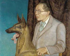 10 Dual purpose: Otto Dix's Hugo Erfurth with Dog JUSTINE BAYOD ESPOZ Otto Dix, Hugo Erfurth with Dog, 1926, tempera and oil on panel. Courtesy Thyssen-Bornemisza Museum Madrid, Spain.