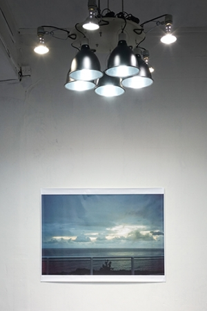 10 Fragile environments: The 'Sea Pearl White Cloud' project: Minerva Inwald,  Guangzhou    Trevor Yeung,  Ten Suns and The Saddest Sunrise (Byron Bay) , 2016, installation view, Observation Society, Guangzhou, 2016; image courtesy the artist; photo: Trevor Yeung