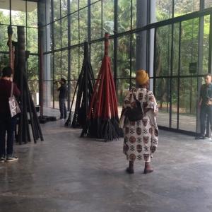3.The 32nd SÃo Paulo Biennial: In praise of uncertainty, En Young Ahn, São Paulo Frans Krajcberg, Untitled, n.d., installation view, the 32nd SÃO Paulo Biennial, 2016;burnt wood and natural pigments, dimensions variable; photo: En Young Ahn