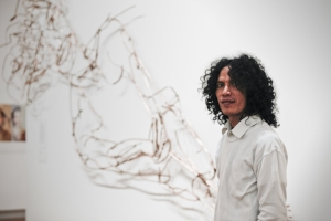 20. S. Teddy D. 1970 – 2016, Asmudjo Jono Irianto and Christine Clark S. Teddy D., August 2011; image courtesy the National Portrait Gallery, Canberra; photo: Mark Mohell