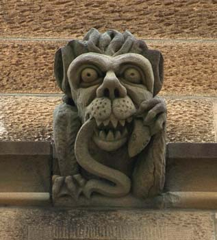 10 Australian gargoyles KYLA WARD Unknown artists, Gargoyles at the University of Sydney. Courtesy of the University of Sydney.