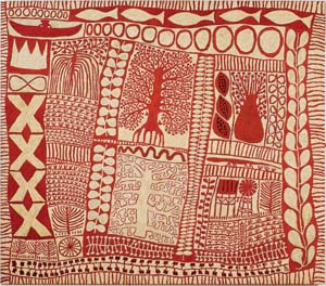 3 TogArt Contemporary Art Exhibition: History in the making: DAENA MURRAY,  Darwin    Marina Strocchi,  Red river,  2006, acrylic on linen
