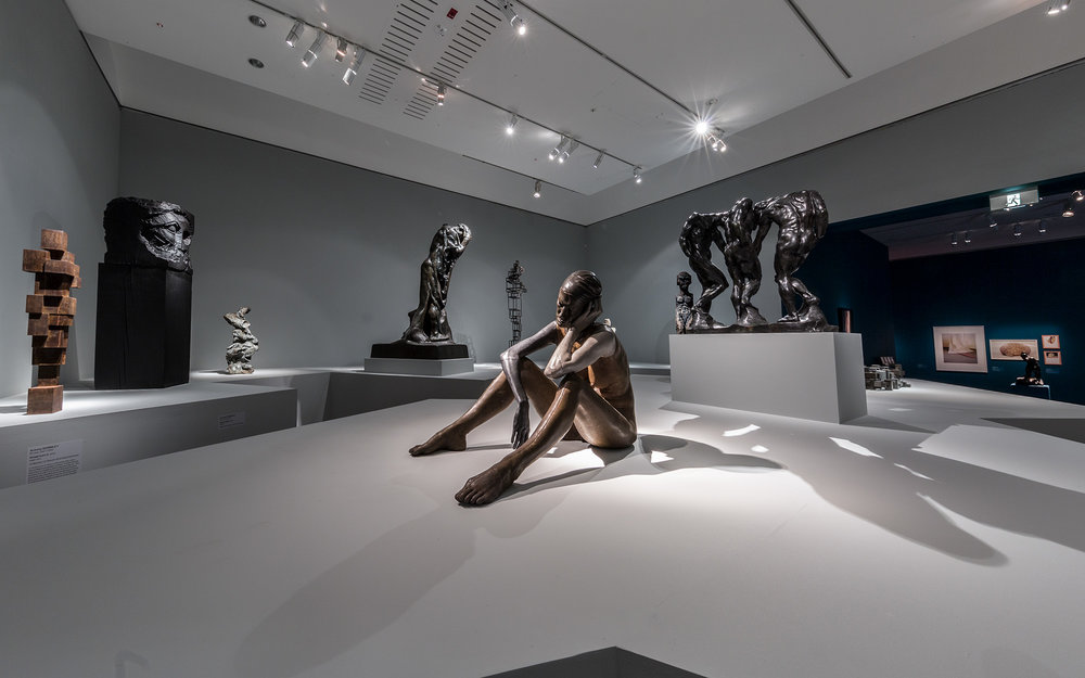 Versus Rodin: bodies across space and time, exhibition install view, Art Gallery of South Australia (AGSA), Adelaide, 2017; image courtesy AGSA, Adelaide; photo: Saul Steed