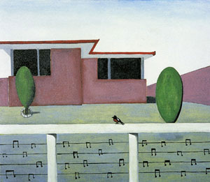9 The sound of visual art: JEREMY ECCLES   Noel McKenna,  Home, Blue Mountains , 2004, enamel on canvas. Private collection. In the exhibition  The sound of painting , at the George Adams Gallery, the Arts Centre, Melbourne