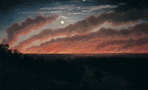 7. Fire and fear in the Australian landscape:Fireworks in Mackay, Queensland by SALLY BUTLER Eugène von Guérard, Bushfire between Mount Elephant and Timboon, 1857, 1859, oil on canvas mounted on board. Collection of the Ballarat Fine Art Gallery, gift of Lady Currie in memory of her husband the late Sir Alan Currie, 1948.