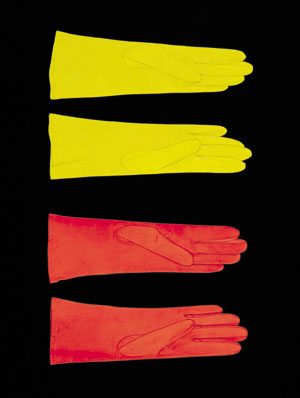5. Photography thinking itself:  Jacky Redgate: Survey 1980 - 2003  in Adelaide by  MARIA BILSKE      Jacky Redgate,  Life of the system #5 tow pairs of leather gloves , 1998, C-type photograph. Courtesy of the artist.