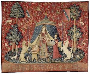 6 The curators, the diplomat and 'the lady and the unicorn: joanna mendelssohn,  sydney     Mon Seul Désir , c. 1500, from 'The Lady and the Unicorn' series, wool and silk, 377 x 473cm, Musée de Cluny – Musée national du Moyen Âge, Paris; photo and ©: RMN-GP/M. Urtado