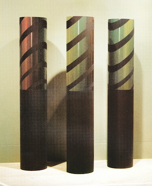 11 in the margins: howard taylor's omission from 'the field' exhibition: ted snell,  perth    Howard Taylor,  Columns , 1970, painted steel and galvanised iron, 213.5 x 38.2cm (each), University of Western Australia Art Collection, Perth, acquired 1984; © Howard H. Taylor Estate, represented by Galerie Düsseldorf, Perth