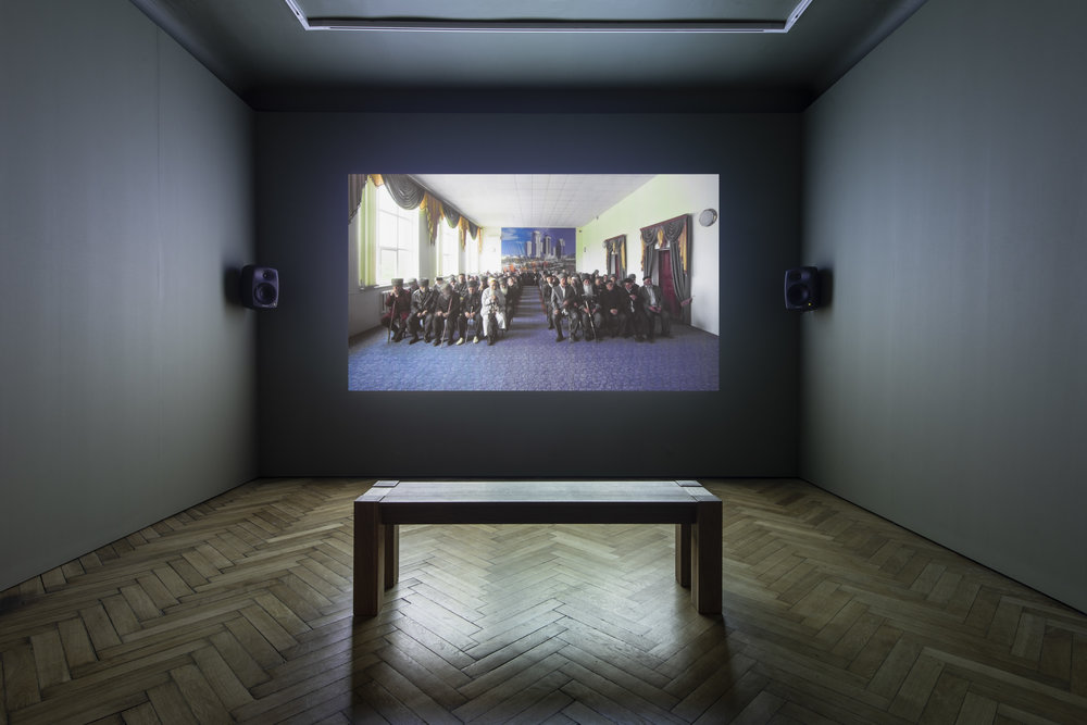 Aslan Gaisumov,  People of No Consequence , 2016, installation view, 'Beautiful world, where are you?', Victoria Gallery and Museum, Liverpool, 2018; photo: Thierry Bal