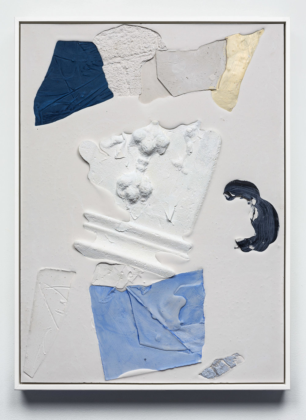 Mason Kimber, Ivory/slide , 2018, acrylic, resin, synthetic polymer, gypsum and glass fibre on plywood, 65 x 44.7 x 4.5cm (framed); courtesy the artist, COMA Gallery, Sydney, and Sophie Gannon Gallery, Melbourne