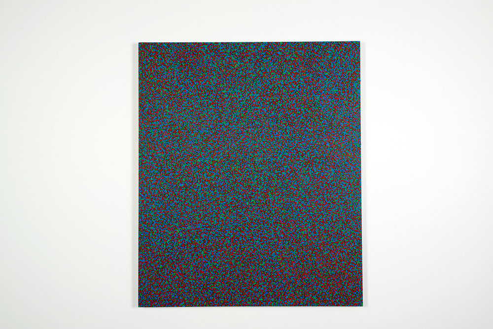 Antoine Aguilar,  Snow (RGB14_4) , 2014, gesso, acrylic, oil pastel on marine ply, 100 x 80 x 8cm; image courtesy the artist and Chauffeur, Sydney