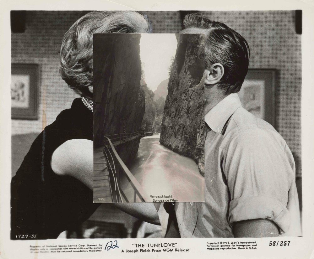 John Stezaker,  Pair XXVII , 2015, collage, 20.3 x 24.2cm; image courtesy the artist and The Approach, London