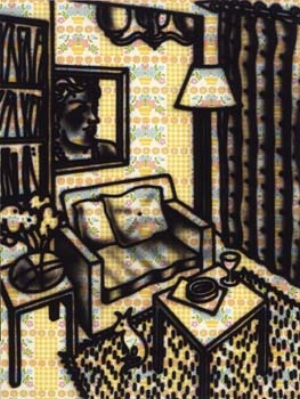 3 Howard Arkley: CHRISTOPHER CHAPMAN,  Sydney    Howard Arkley,  Suburban interior,  1983, synthetic polymer paint on canvas. Museum of Modern Art at Heide, Melbourne, the Baillieu Myer Collection of the 80s