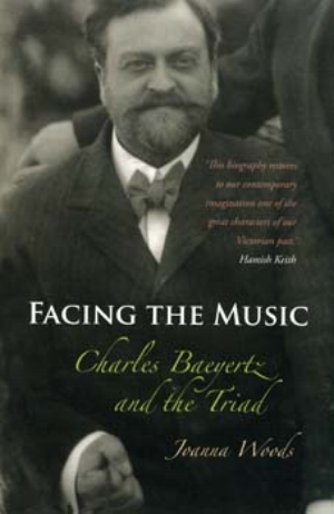 9 Joanna Woods Facing the Music: Charles Baeyertz and the Triad: DAMIAN SKINNER   Joanna Woods,  Facing the Music: Charles Baeyertz and the Triad,  Otago University Press, 2008, 247 pages, $45 rrp.  We all know it shouldn't be done, but I'd like to begin by judging Joanna Woods's Facing the Music: Charles Baeyertz and the Triad by its cover. On the front is a photograph of the man himself, in which Baeyertz is every bit the confident and successful critic and magazine publisher, his suit and bow tie signifiers of his material success, and the not-quite-smile on his face revealing his legendary steely commitment to excellence and to making judgments public, regardless of the personal cost. On the back of the book, a pictorialist photograph titled Melisande, which was the Triad's centrefold in August 1918, reveals a now somewhat coy but no doubt then daring nude female poised on a rock and staring at her reflection in the tranquil water. Nicely complicating our reading of this image is a quote from Charles Baeyertz: 'This magazine . . . is made to sell.' Like Melisande on her rock, nudity in the Triad is balanced between an avant-garde challenge to middle-class taste and a fairly direct appeal to the (male) desires of that same market. Welcome to the world of Baeyertz and the Triad