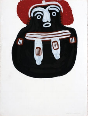 7 The art of the art advisor: Rodney Gooch and the invention of Aboriginal art at Utopia: PHILIP BATTY   Angelina Pwerle,  Old Time Ancestor , 1990, screenprint, 51 x 42.cm. Gift of Rodney Gooch (The Rodney Gooch Personal Collection), Flinders University Art Museum