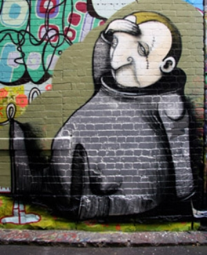12 Allegory in smog: the art of Stormie Mills: URSZULA DAWKINS   Stormie Mills, Untitled graffiti, 2007, Hosier Lane, Melbourne