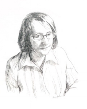 6 Janice (Jan McCulloch), 1938-2009: BARBARA CAMPBELL   Naomi Matthews, pencil sketch of Janice McCulloch, 2007, 35 x 27cm. Photograph by Paul Saint. Image courtesy the artist