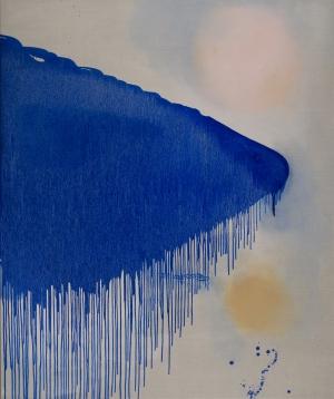 11 surfacing: the art of louise olsen and stephen ormandy: michael fitzgerald   Louise Olsen,  Hidden Lake , 2018, oil on linen, 198 x 153cm; image courtesy the artist