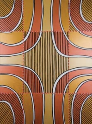 5 Marshall Bell: Looking for history TIMOTHY MORRELL    Animal Skin Moiety  , 2010, 121.5 x 91.5cm. Based on animal skin designs as recorded in A. W. Howitt's   Native Tribes of South Eastern Australia  , Macmillan, London, 1904.
