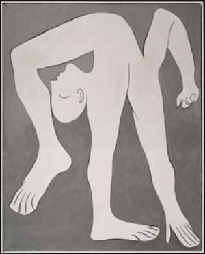 12 A trompe-l'espirit – Picasso: Masterpieces from the Musée National Picasso, Paris PATRICK HUTCHINGS Pablo Picasso,The acrobat, 1930, oil on canvas, 162 x 130cm; © Succession Picasso, 2011/Licensed by Viscopy, 2011; © Paris, Réunion des Musées Nationaux/René-Gabriel Ojeda; © Musée National Picasso, Paris.