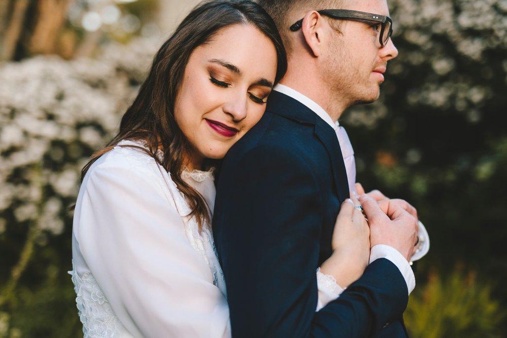 vintage-victorian-wedding-dress-blue-suite-lavender-tie