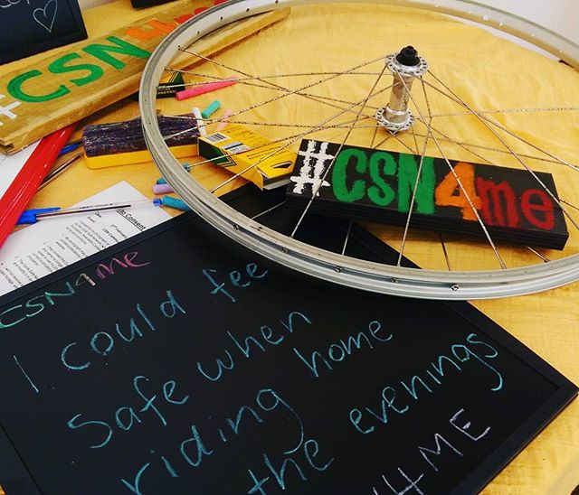 """I could feel #safe riding home in the evenings""  #CSN4me"