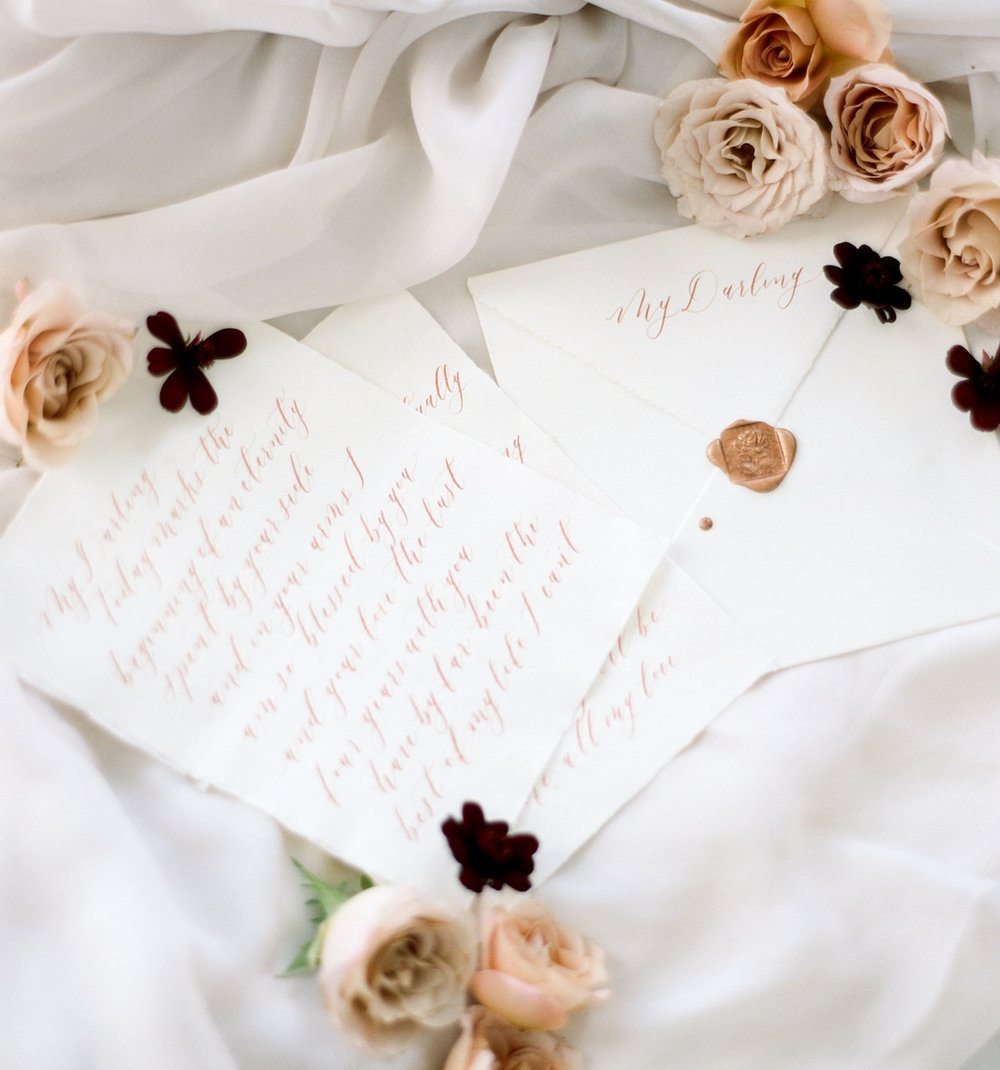 Michaela McBride Calligraphy Wedding Invitations