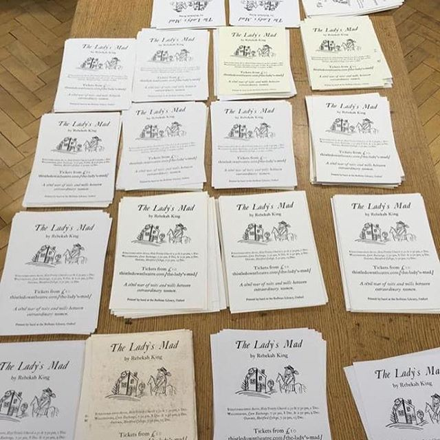 Thank you @bodleianlibs for allowing us to print some lovely 17th century inspired leaflets by hand. Many thanks to Richard Lawrence and Paul Nash at the Bodleian for their expertise and assistance.  Tickets for The Lady's Mad available now via our website www.thistledowntheatre.com/buytickets #theatre #oxford #library #leaflets #theladysmad #busy #create #print #handmade #thankyou #civilwar #cromwell #parliment #women #oxfordshire #tickets #dontmissout #newwriting #womenwriters #oxfordlibrary