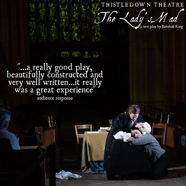 'The Lady's Mad' will be at the Corn Exchange in Wallingford this weekend and @somervillecollegeox next weekend. For more info and tickets go to our website: thistledowntheatre.com/tickets #theatre #tickets #wallingford #oxford #englishcivilwar #womenintheatre #newwriting #womenwriters #forgottenwomen #womeninhistory #englishjoan #dontmissout #artists #create #actors #family #cromwell #royalist #parlimentarian #loyalty