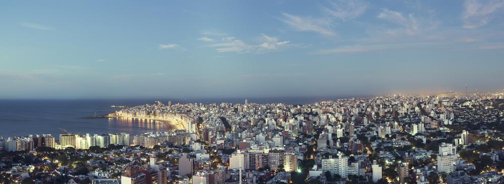 Montevideo, Uruguay, Vista a Pocitos